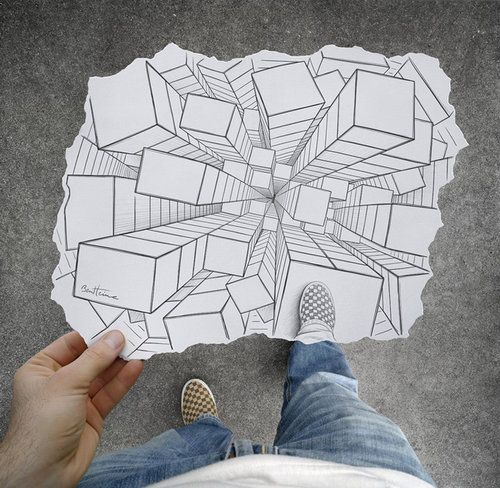 Drawn 3d art perspective Images on #art Perspective DrawingOne