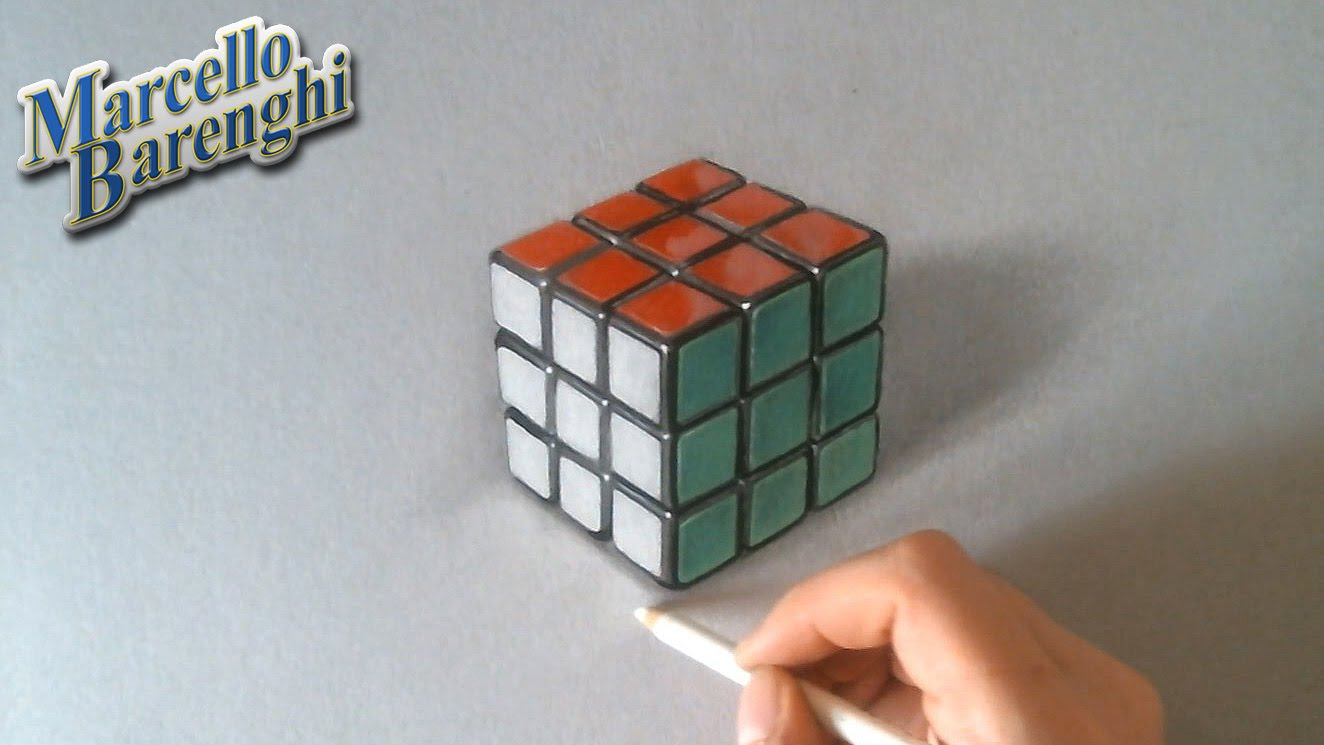 Cube Rubiks illusion YouTube coloring