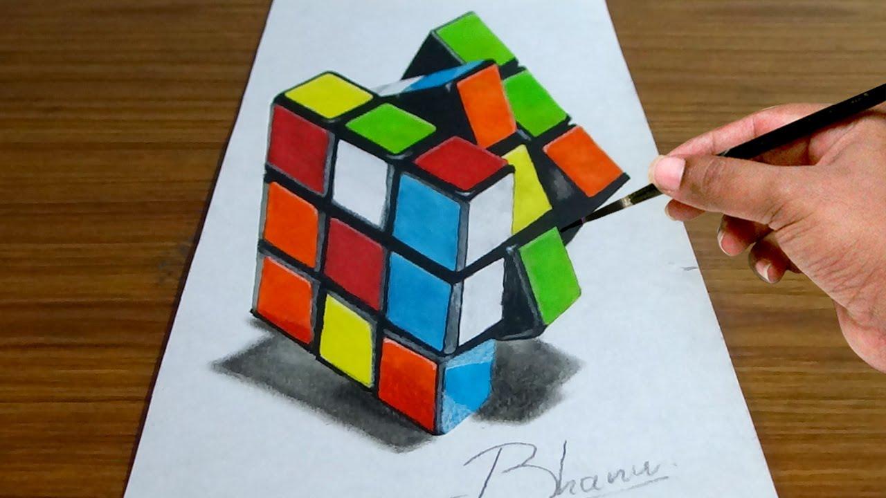 Anamorphic Cube Illusion Anamorphic Bhanu