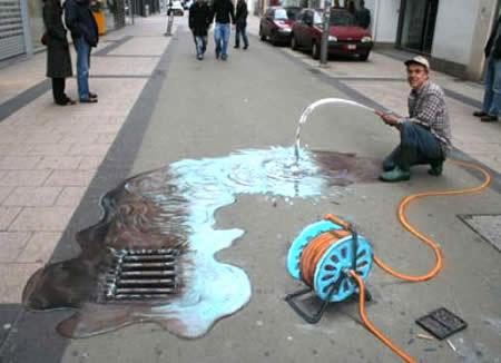 Drawn 3d art street #15