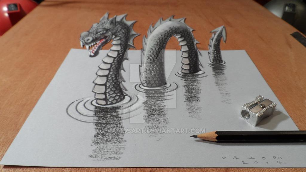 Drawn 3d art vamos 3D Gallery VamosArt VamosArt Monster