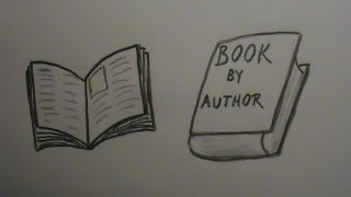 Drawn book easy Draw and Closed Open