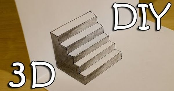 Drawn stairs side Easy Stairs Illusion Draw YouTube