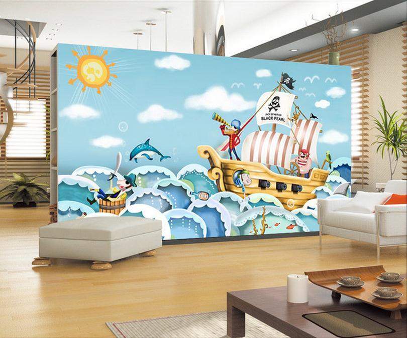 Drawn ship hd 3d Online woven cartoon drawn ship