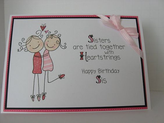 Drawn adorable Sisters' Pinterest ideas by BlossomsCardStudio