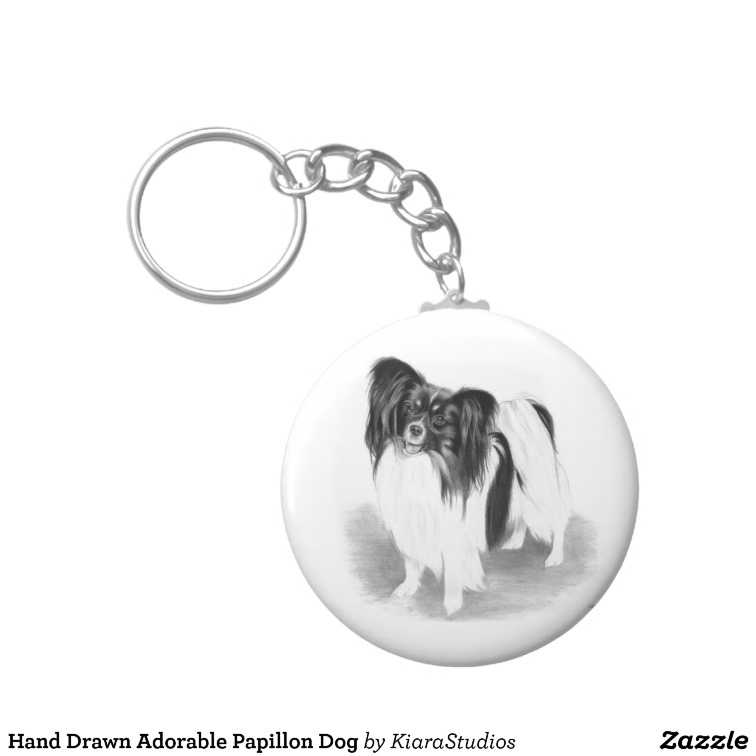Drawn adorable Hand Papillon Drawn Adorable Keychain