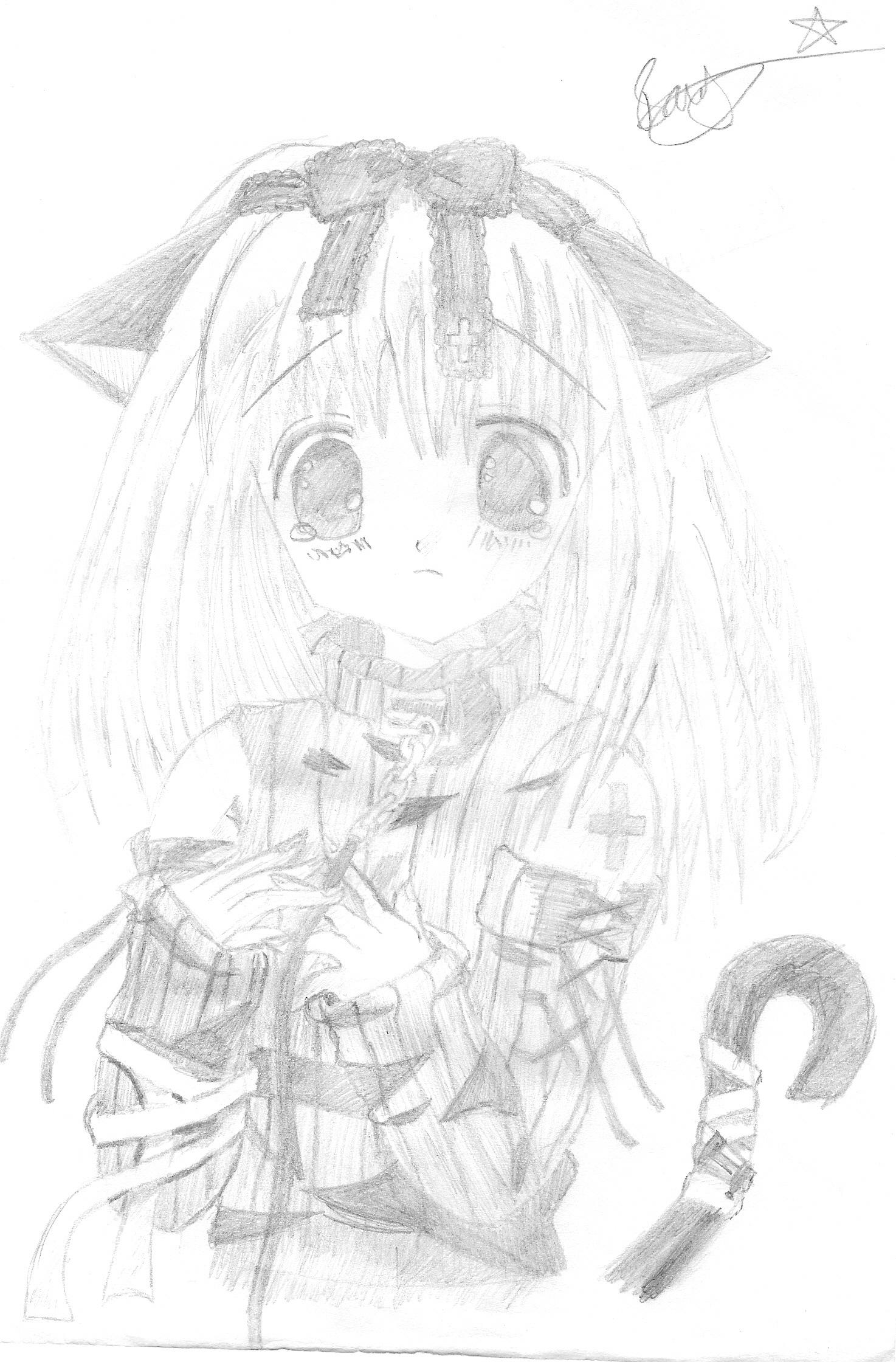Drawn sad cute Cute Girl Looking Sad
