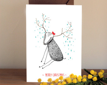 Drawn card christmas card #1