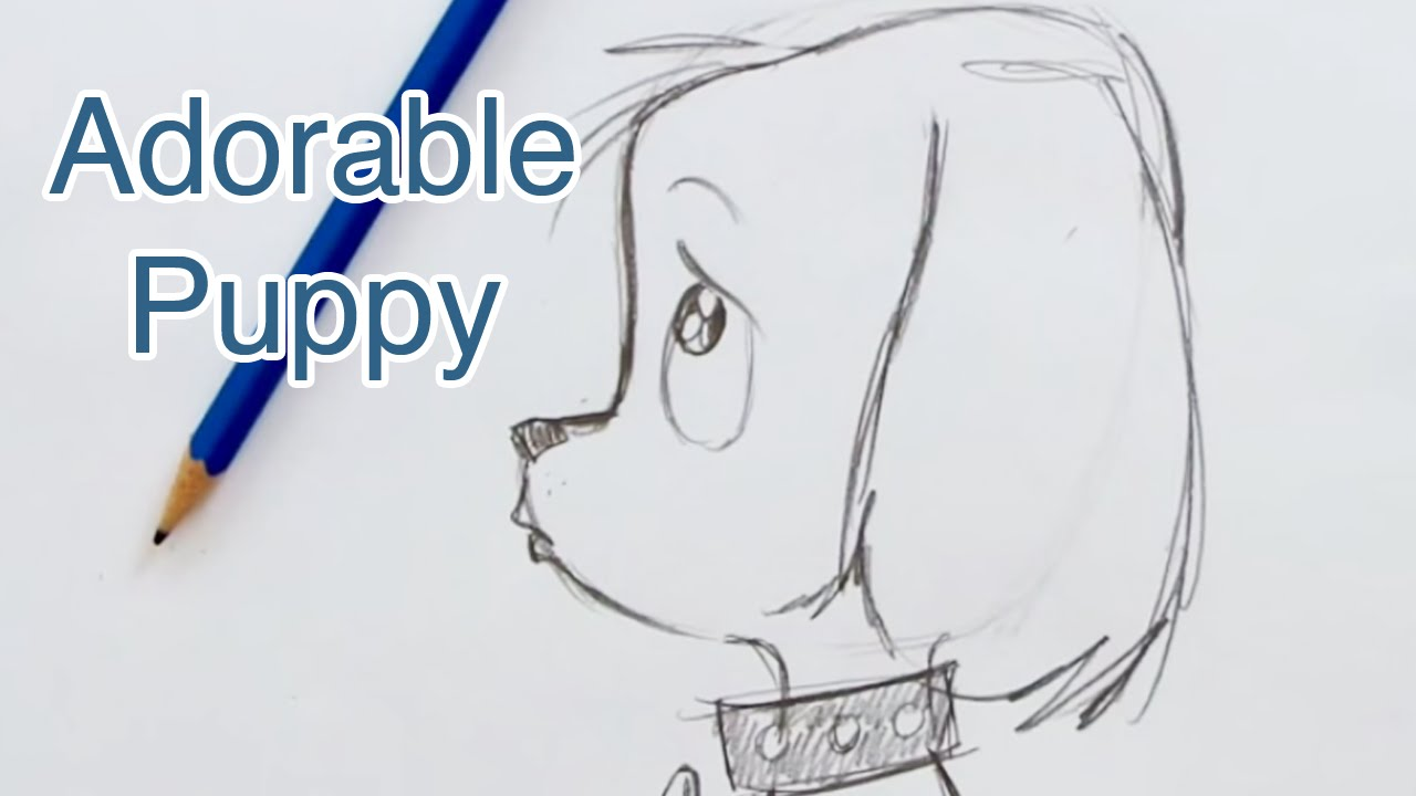 Drawn puppy adorable puppy How Draw to Puppy (Step