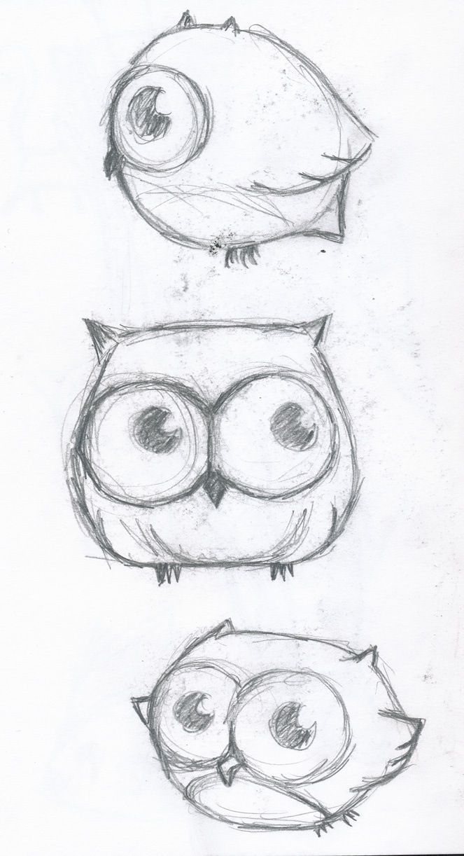 Drawn owl kawaii Cute Drawings animals Cute Pinterest