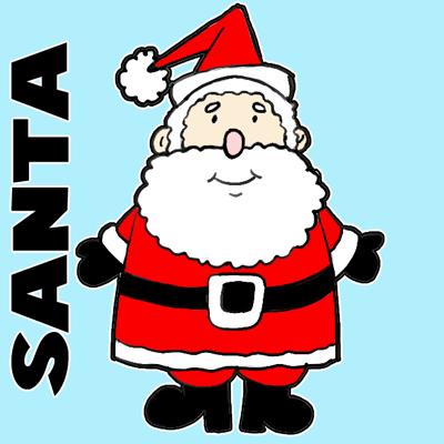 Drawn santa father christmas Christmas How  Drawing Christmas