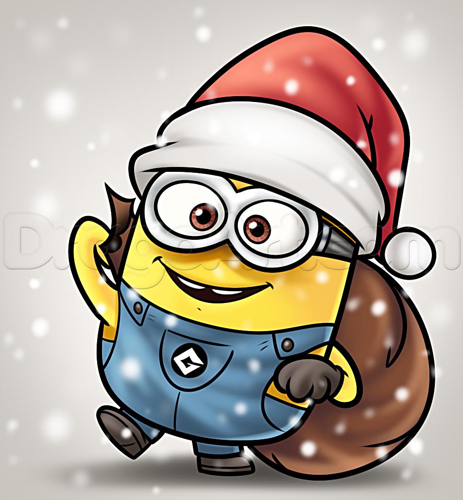 Drawn santa father christmas Minion how How christmas a
