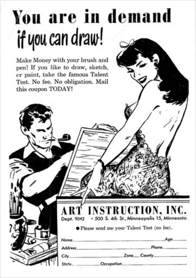 Drawn advertisement It's commercial race printing hard