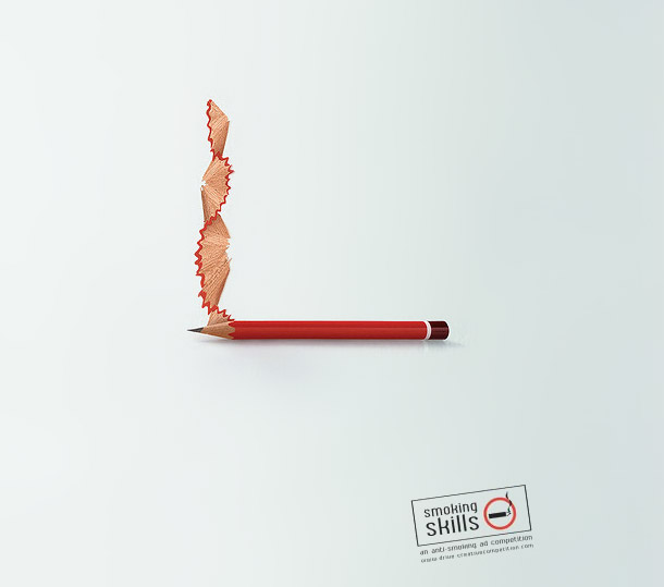 Drawn advertisement Smoking Skills Anti Creative Ads