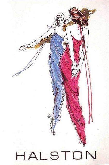 Drawn advertisement illustrative In an illustration Art Halston