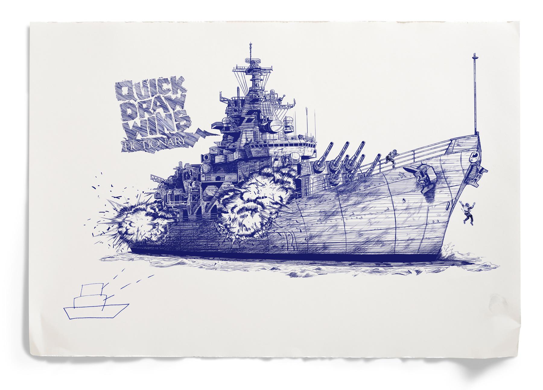 Drawn advertisement pictionary Ad of Ads Battleship Battleship