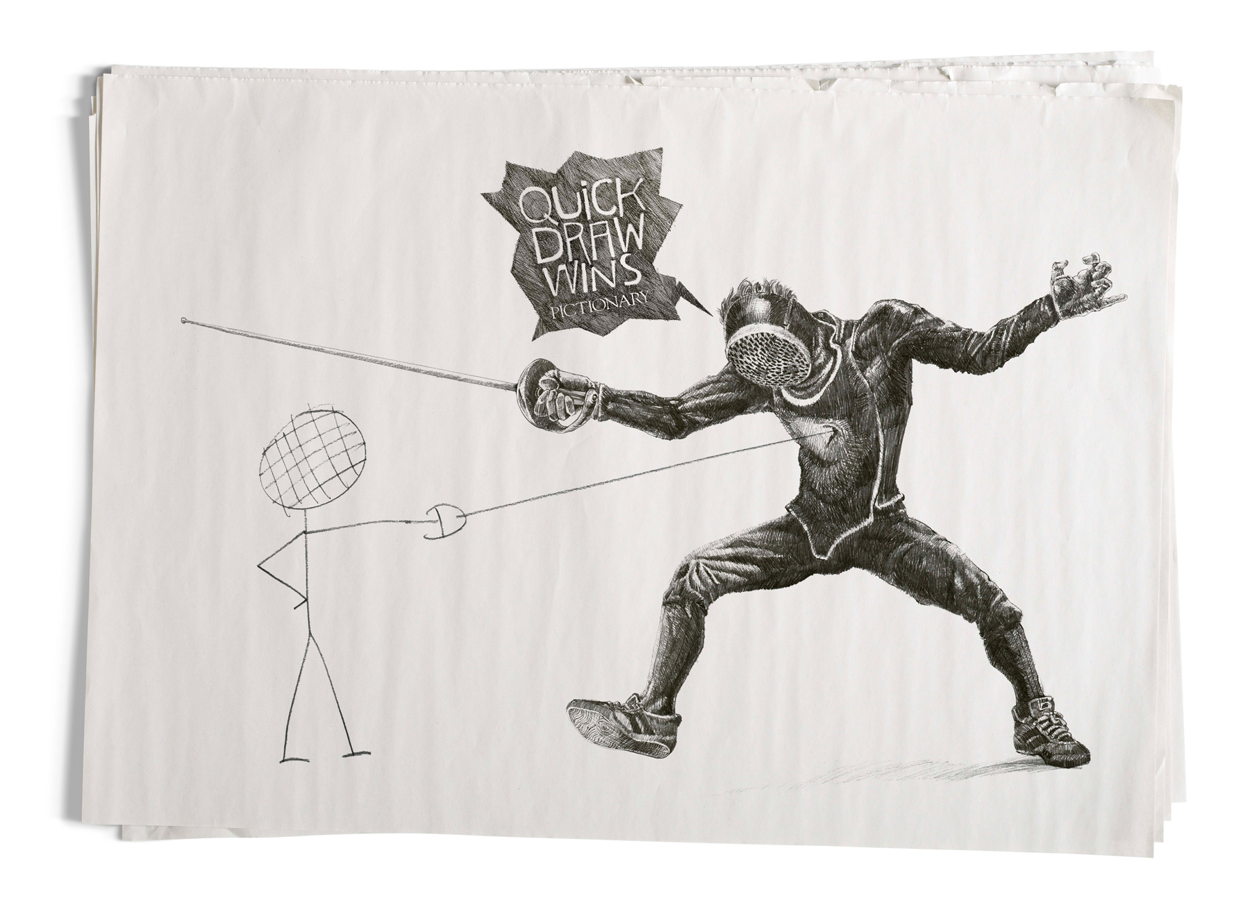 Drawn advertisement pictionary Ad of Ads Fencing Fencing