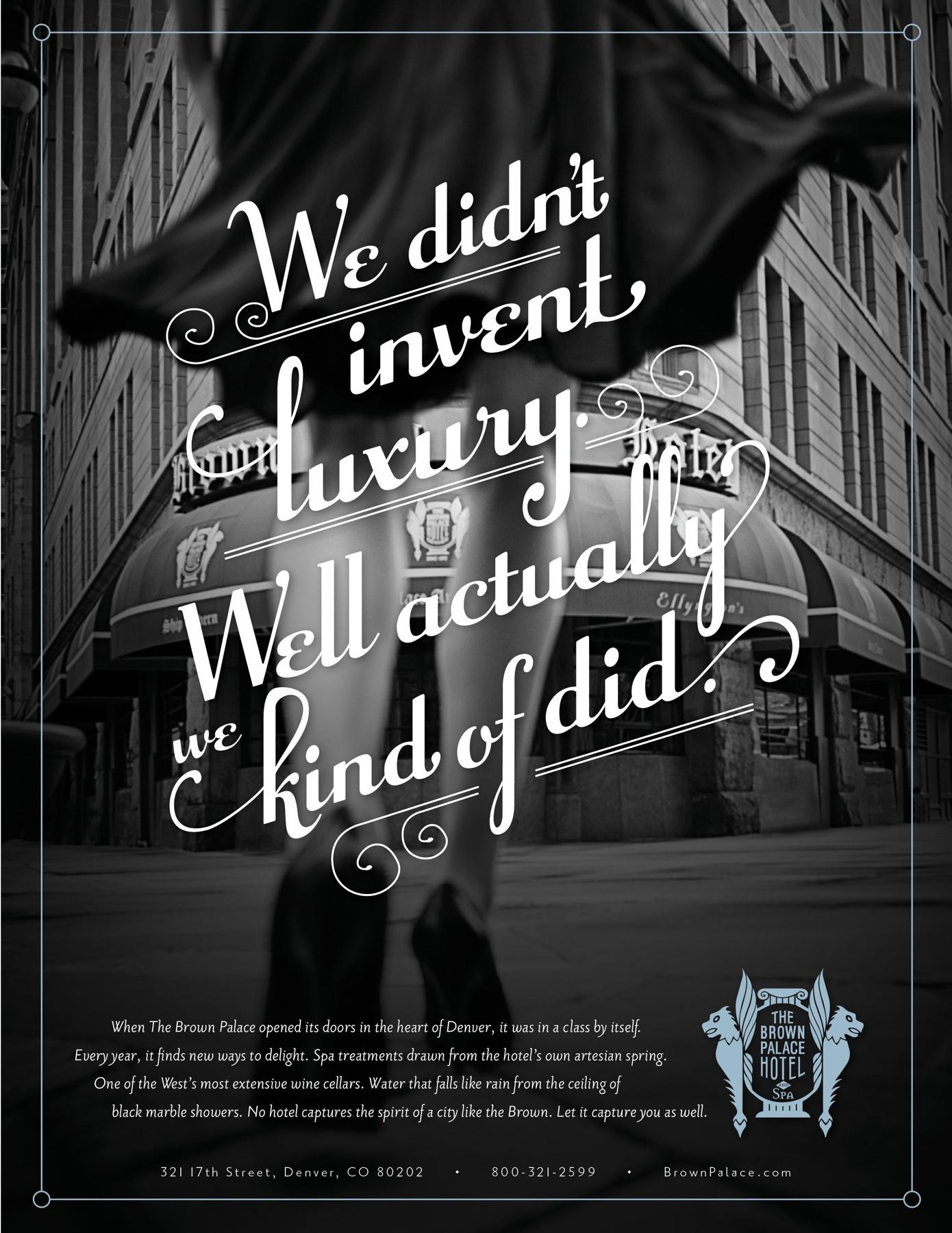 Drawn advertisement print advert The Palace Brown Advert of
