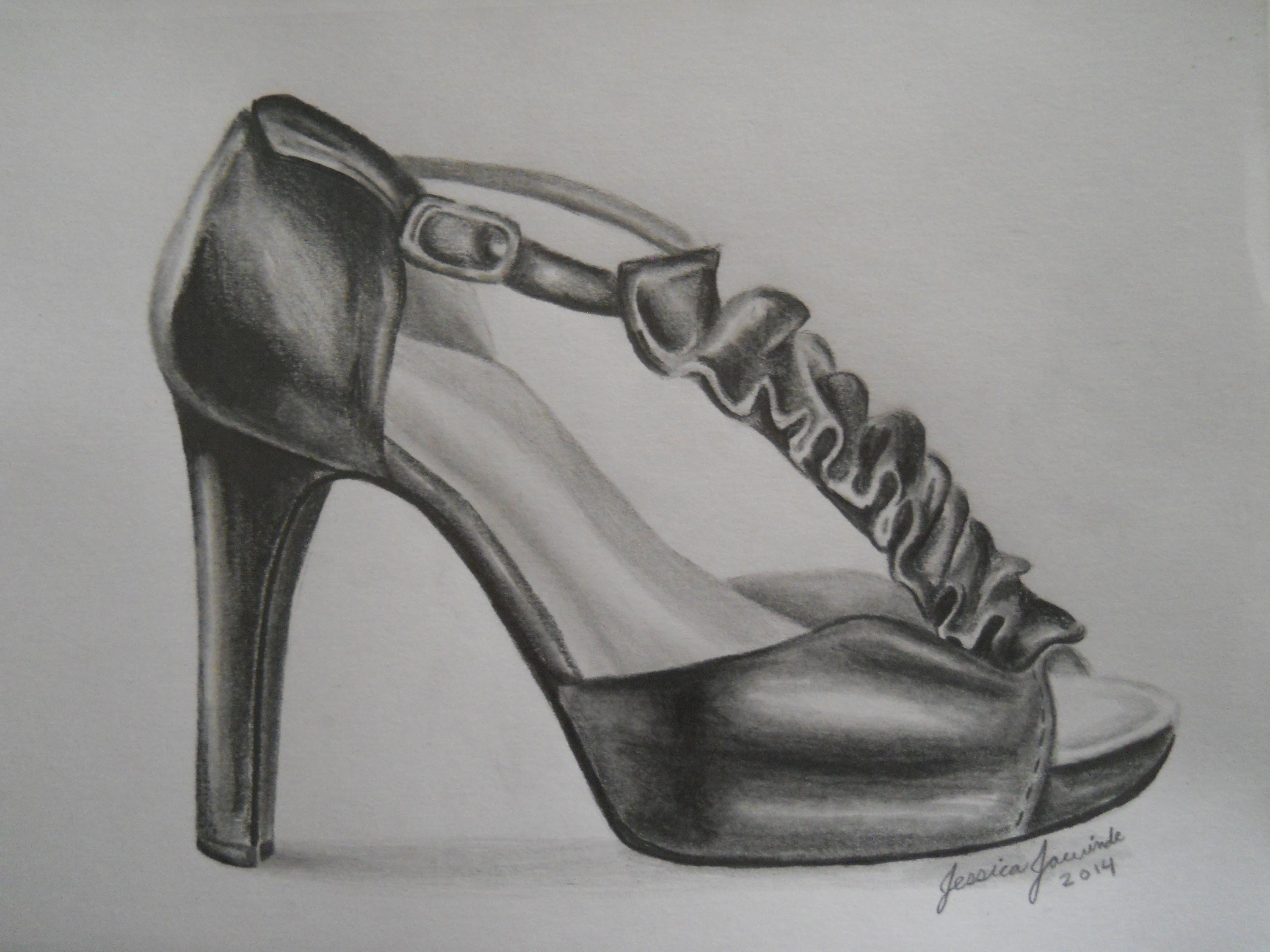 Drawn shoe unique Drawing Lapse Heel Drawing YouTube