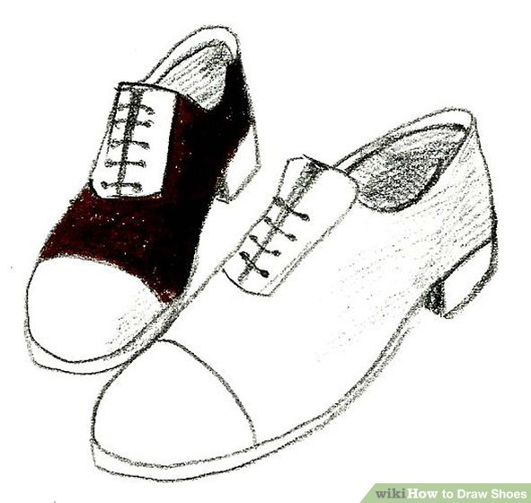Drawn shoe drawing Titled wikiHow Shoes Ways Shoes