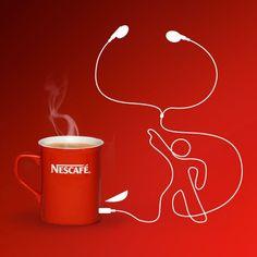 Drawn advertisement simplistic Creative coffee advertising Cute post
