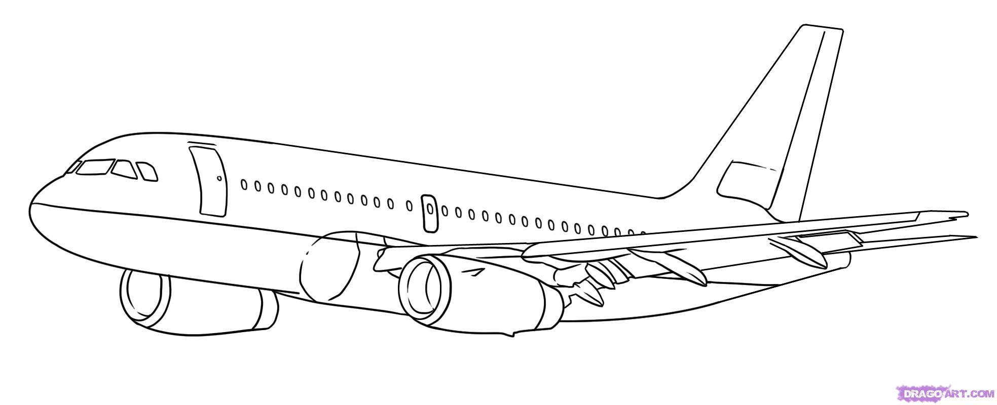 Drawn airplane #3