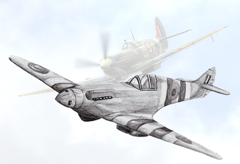 Drawn aircraft To by by Fighter a
