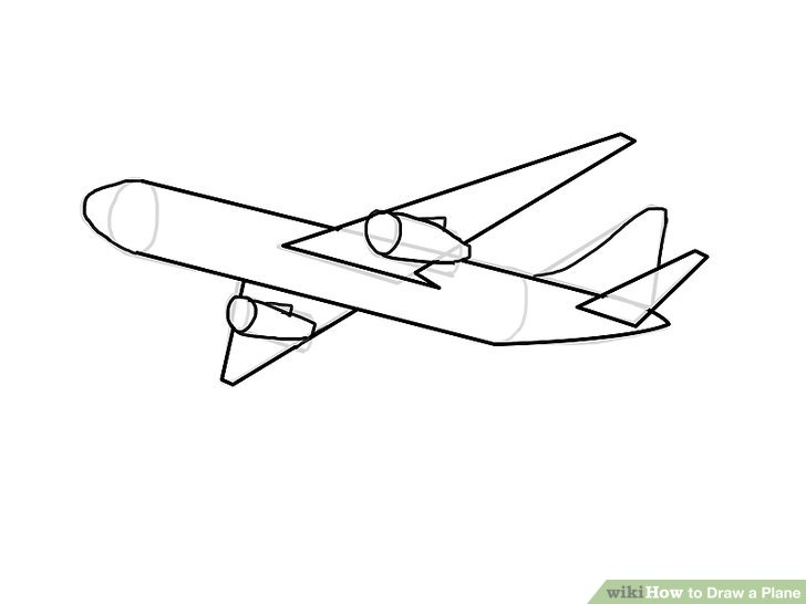 Drawn airplane black and white A titled to Ways 16