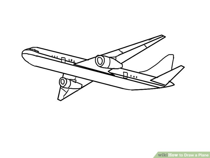 Drawn airplane #1