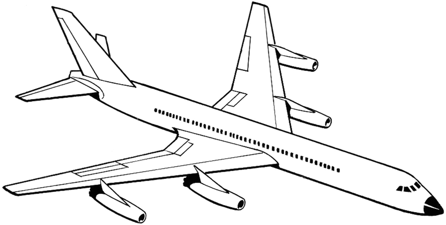 Drawn airplane #6