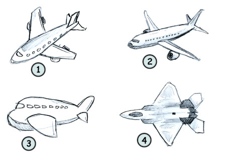 Drawn airplane  a cartoon Drawing airplane