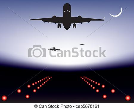Drawn aircraft airplane landing #11