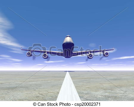 Drawn aircraft airplane landing #9