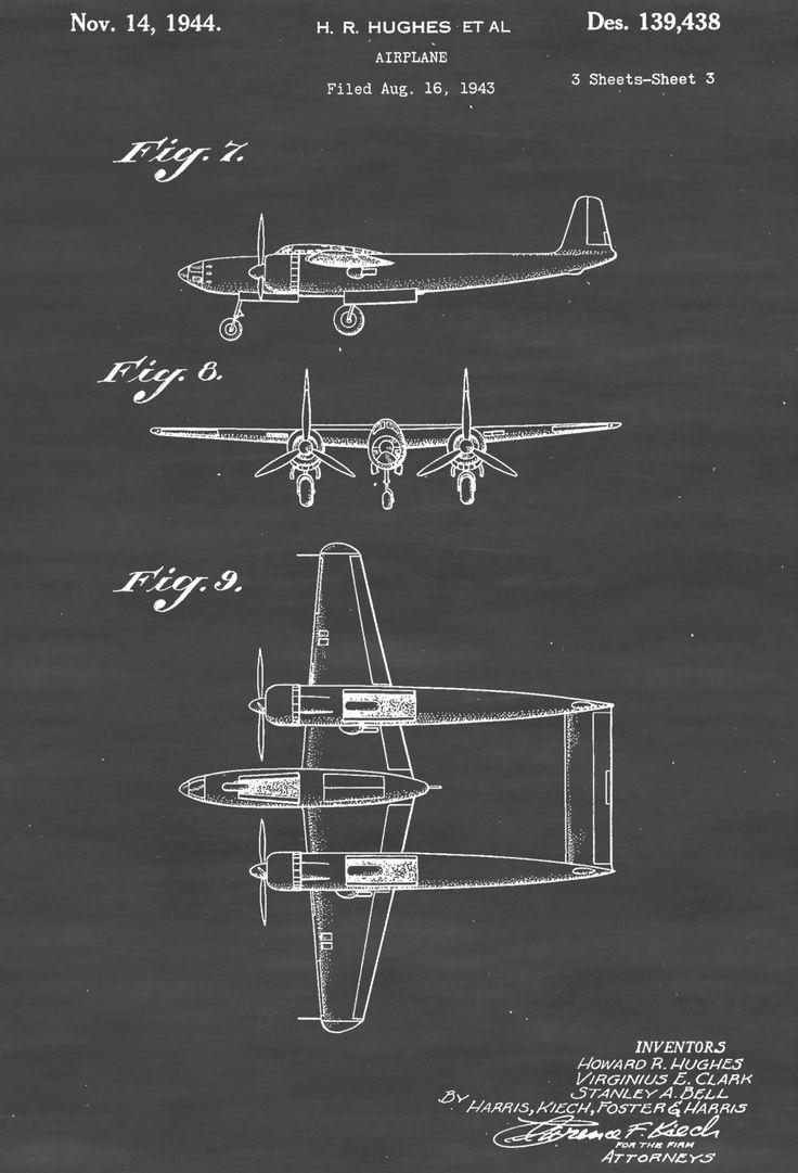 Drawn aircraft airplane pilot Patent XP best Blueprint on