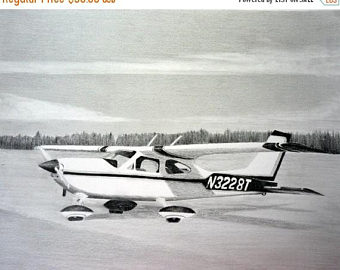 Drawn aircraft car #8
