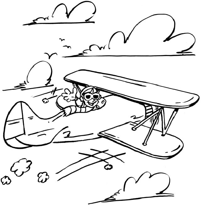 Drawn aircraft coloring page On 23 Pinterest 3 pages