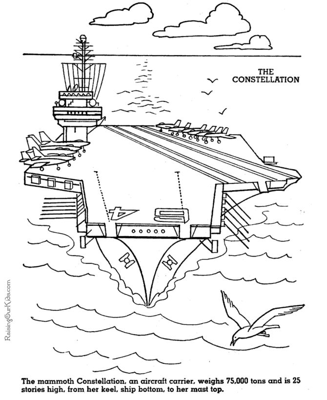 Drawn aircraft coloring page Images to on carrier Aircraft