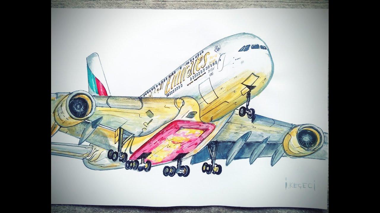 Drawn aircraft emirates #13