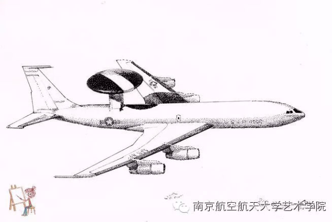 Drawn aircraft hand drawn Art University go student at