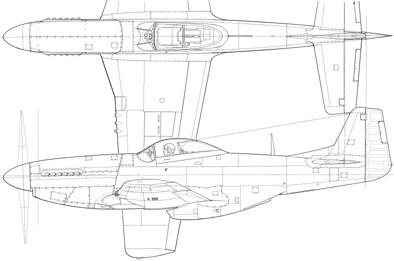 Drawn aircraft mustang #13