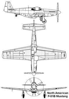 Drawn aircraft mustang #3