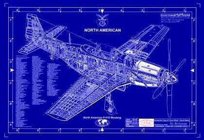 Drawn aircraft mustang #7