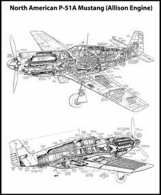 Drawn aircraft mustang #9