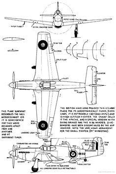 Drawn aircraft mustang #5