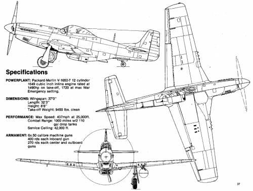 Drawn aircraft mustang #10