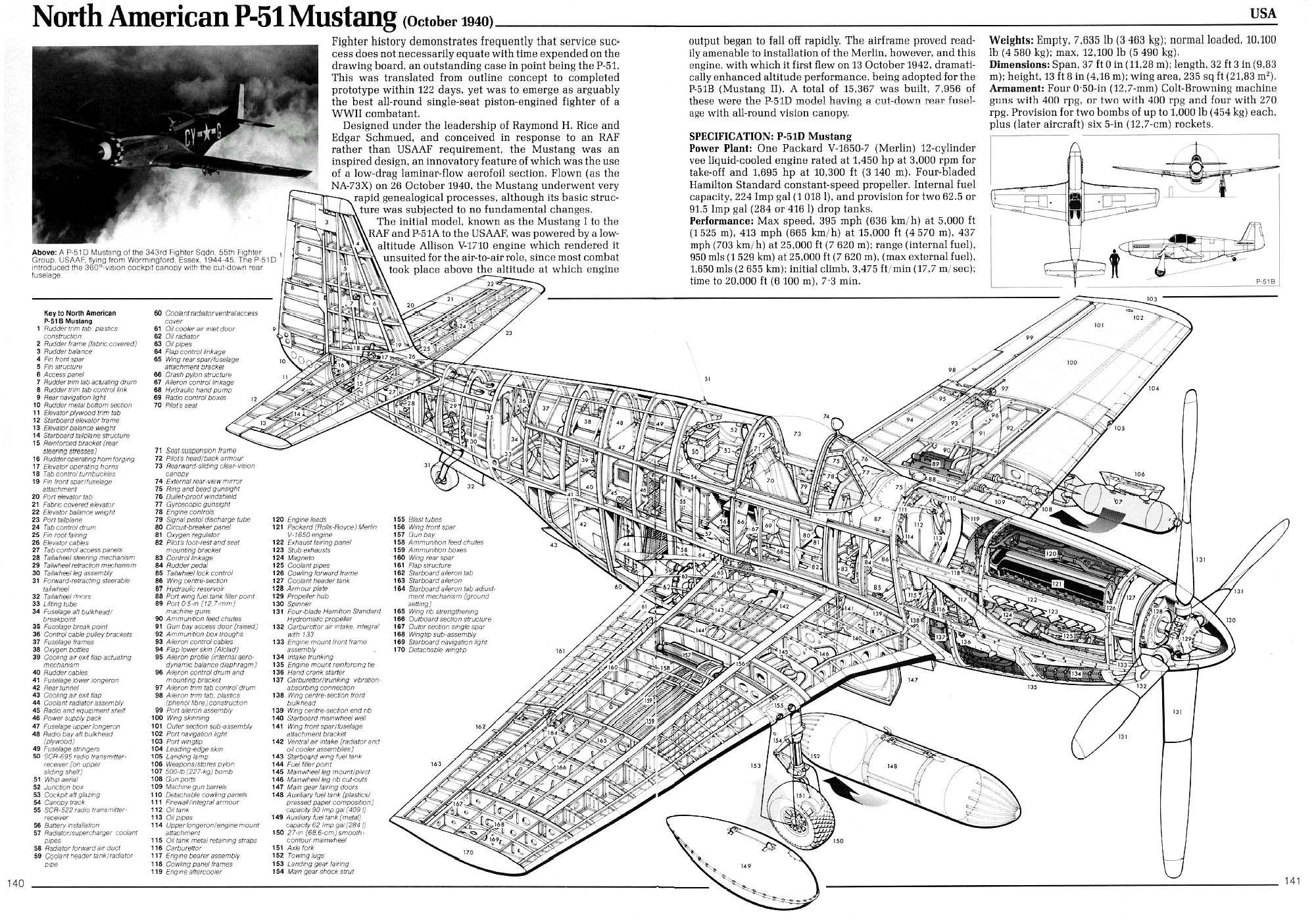 Drawn aircraft mustang #14