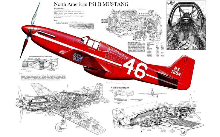 Drawn aircraft mustang #11