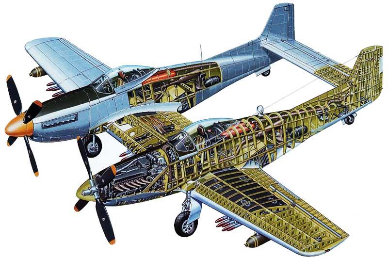Drawn aircraft mustang #12