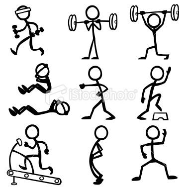 Drawn aircraft stick figure Fitness Stock Illustration fight battle