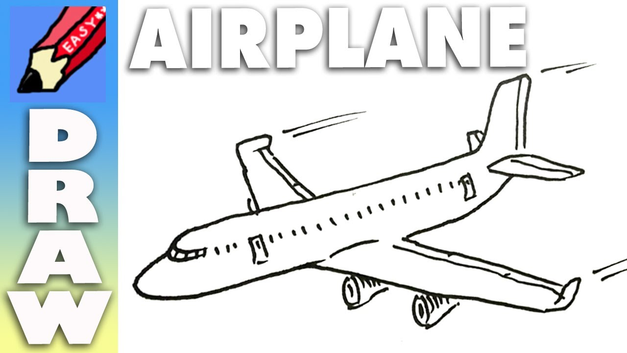 Drawn aircraft easy Easy Draw YouTube easy Draw